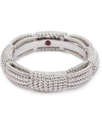 Roberto Coin - 'new Barocco' 18k White Gold Ring - Lyst