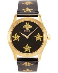 Gucci - 'g-timeless' Bee Star Print 38mm Watch - Lyst