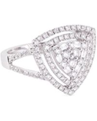 LC COLLECTION - Diamond 18k Gold Triangle Cutout Ring - Lyst