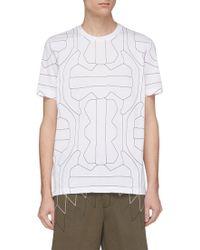 Neil Barrett - Geometric Print T-shirt - Lyst