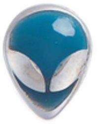 Loquet London - 18k White Gold Enamelled Alien Head Charm - Lyst