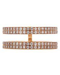 Repossi - 'berbère' Diamond 18k Rose Gold Double Row Phalanx Ring - Lyst