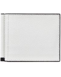 Valextra - Simple Grip Spring Leather Wallet – White - Lyst