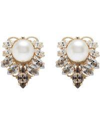 Anton Heunis - Swarovski Crystal Pearl Cluster Stud Earrings - Lyst