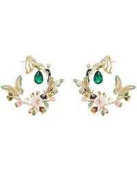 Anabela Chan - 'butterfly Garland' Emerald 18k Yellow Gold Statement Earrings - Lyst