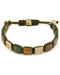 Shamballa Jewels - Shamballa' Diamond Gemstone 18k Yellow Gold Cord Bracelet - Lyst