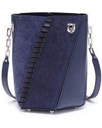 Proenza Schouler - 'hex' Mini Suede Panel Leather Bucket Bag - Lyst