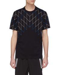 Neil Barrett - Geometric Print Panel T-shirt - Lyst