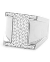 Lynn Ban - 'pavé I' Diamond Sterling Silver Ring - Lyst