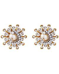 Erickson Beamon - 'delicate Balance' Swarovski Crystal Starburst Stud Earrings - Lyst