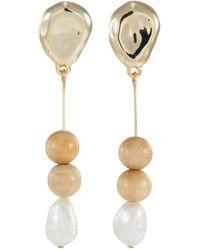 383eacffb Sophie Monet - 'the Needle' Freshwater Pearl Bead Drop Earrings - Lyst