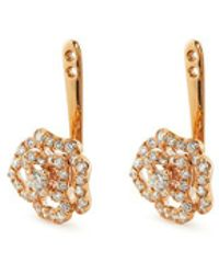 LC COLLECTION - Diamond 18k Rose Gold Floral Earring Jackets - Lyst