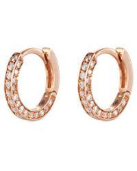 Repossi | 'micro Créole' Diamond Pavé 18k Rose Gold Single Hoop Earring | Lyst