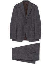 Lardini - Check Wool Suit - Lyst