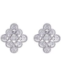 LC COLLECTION - Diamond 18k Gold Geometric Cutout Earrings - Lyst