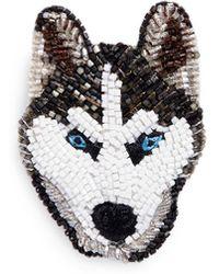 Mignonne Gavigan - Beaded Dog Brooch – Siberian Husky - Lyst