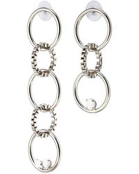 Joomi Lim - 'grandmistress Flash' Mismatched Interlocking Hoop Drop Earrings - Lyst