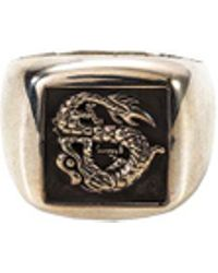 John Hardy - Silver Naga Signet Ring - Lyst