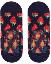 Happy Socks - Strawberry Liner Socks - Lyst