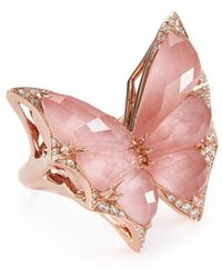 Stephen Webster - 'crystal Haze' Diamond Crystal 18k Rose Gold Ring - Lyst