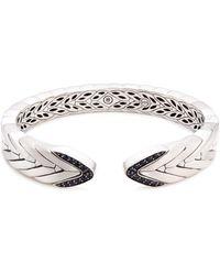 John Hardy - Sapphire Weave Effect Silver Kick Cuff - Lyst