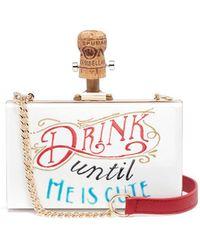 Cecilia Ma - 'cute' Slogan Acrylic Box Clutch - Lyst