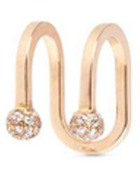Kim Mee Hye - 'double Rocker' Diamond 18k Rose Gold Lip Ring - Lyst