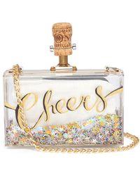 Cecilia Ma - 'cheers' Glitter Acrylic Box Clutch - Lyst