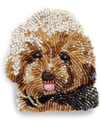 Mignonne Gavigan - Beaded Dog Brooch – Toy Poodle - Lyst