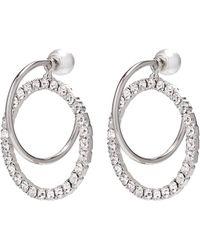 Joomi Lim - 'saturn Stunner' Detachable Swarovski Crystal Ring Hoop Earrings - Lyst