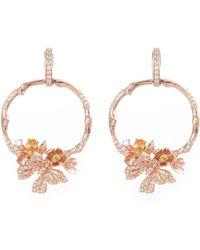 Anabela Chan 'rose Orchard' Diamond Gemstone Hoop Earrings