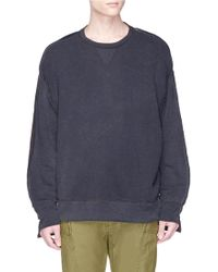 R13 - Tonal Patchwork Sweatshirt - Lyst