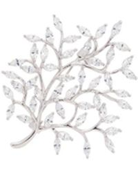 CZ by Kenneth Jay Lane - Cubic Zirconia Tree Brooch - Lyst