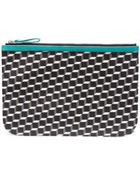Pierre Hardy - 'cube Perspective' Print Large Pouch - Lyst
