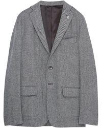 Eidos - Wool Blend Herringbone Soft Blazer - Lyst