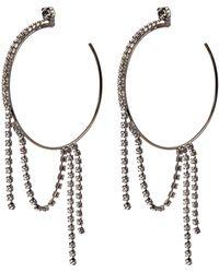 Joomi Lim - Swarovski Crystal Fringe Hoop Earrings - Lyst