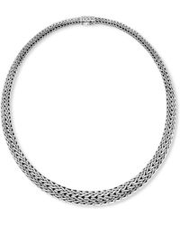 John Hardy - Woven Silver Necklace - Lyst