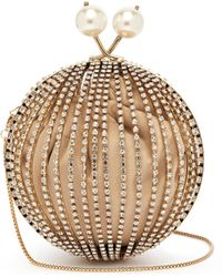 Rosantica - 'ruth' Faux Pearl Glass Crystal Cage Sphere Clutch - Lyst