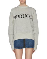 Fiorucci - 'ashley' Logo Print Quilted Panel Oversized Sweatshirt - Lyst
