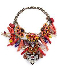 Anabela Chan - 'amphitrite' Embellished Cluster Bib Necklace - Lyst