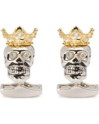 Tateossian - King Skull Cufflinks - Lyst