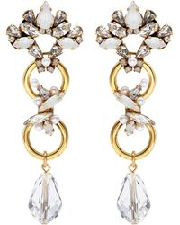 Erickson Beamon - 'sincerely Yours' Swarovski Crystal Abstract Drop Earrings - Lyst