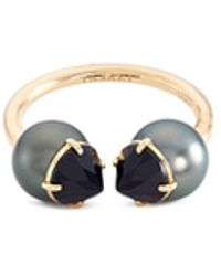 Tasaki - 'refined Rebellion' Spinel Tahitian Pearl 18k Yellow Gold Ring - Lyst