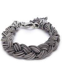 Emanuele Bicocchi | Braided Silver Bracelet | Lyst