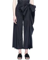 Xiao Li - Bow Drape Poplin Culottes - Lyst