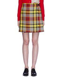 Le Kilt - Buckled Tartan Plaid Kilt Skirt - Lyst