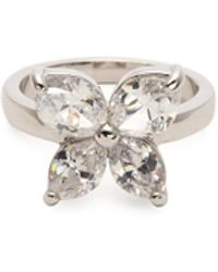 CZ by Kenneth Jay Lane - Cubic Zirconia Floral Ring - Lyst