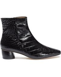 LOQ - Matea Croc-effect Leather Ankle Boots - Lyst