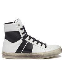 Amiri - 'sunset Vintage' Colourblock Leather High Top Sneakers - Lyst