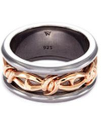 Stephen Webster - 'highwayman' Rhodium Rose Gold Silver Thorn Ring - Lyst